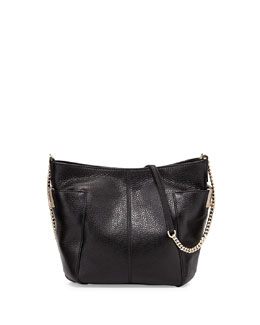 Jimmy Choo Anabel Leather Crossbody Bag, Black