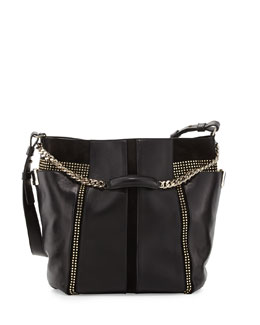 Jimmy Choo Anna Studded Leather Tote Bag, Black