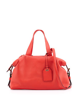 Reed Krakoff Atlas Mini Leather Satchel Bag, Orange