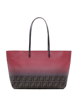Fendi Ombre Zucca Tote Bag, Brown/Red