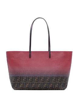 Fendi Ombre Zucca Tote Bag, Brown/Red