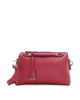 Fendi By The Way Leather Satchel Bag, Red