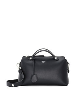 Fendi By The Way Medium Leather Satchel Bag, Black