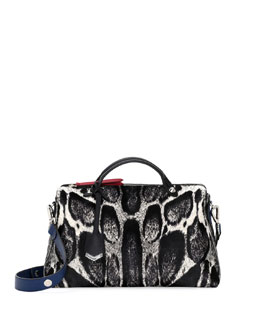 Fendi By the Way Medium Calf-Hair Satchel Bag