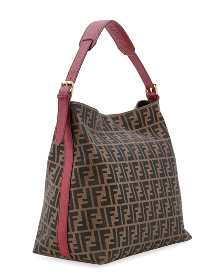 1e84715eaa06 Fendi Zucca-Print Large Canvas Hobo Bag