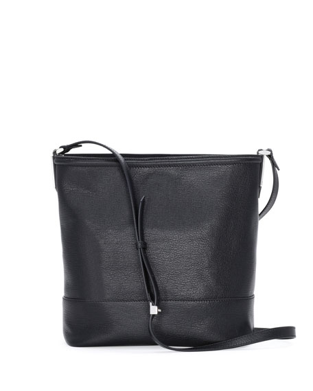 Fendi Madras Leather Bucket Bag, Black