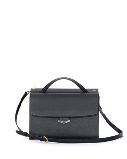 Fendi Demi-Jour Saffiano Shoulder Bag, Black