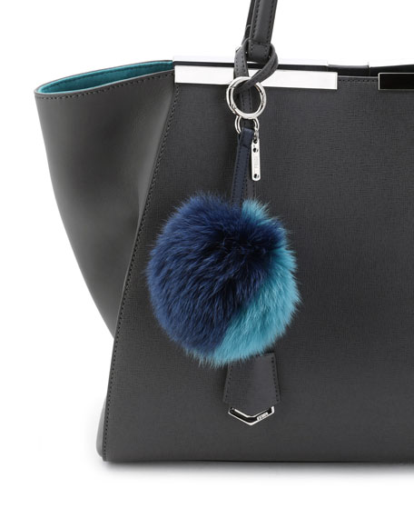 186d0f93f0 Fendi Bicolor Fur Pom-Pom Charm for Handbag