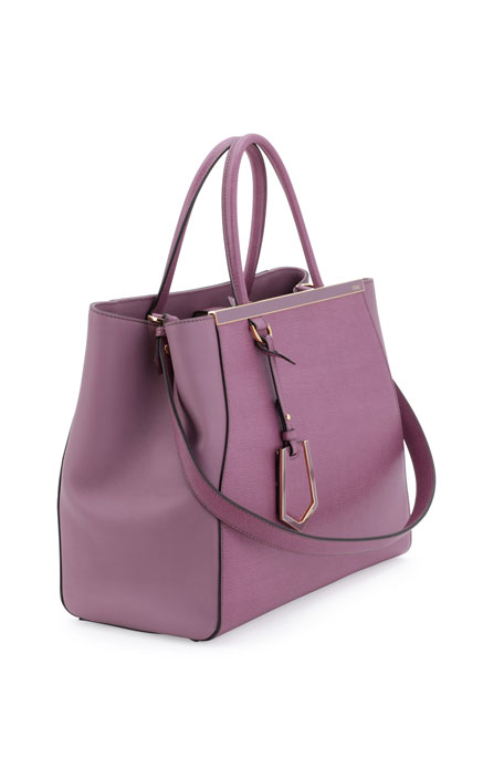 50543370e3 Fendi 2Jours Saffiano Shopping Tote Bag