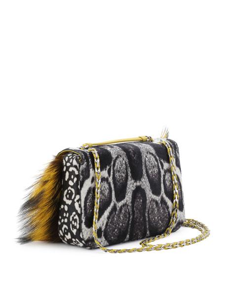 8a0ebb1d73ce Fendi Be Baguette Fur   Leopard-Print Calf Hair Bag