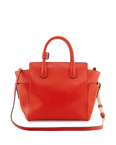 Atlantique Mini Tote Bag, Orange