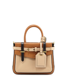 Reed Krakoff Boxer Micro Tote Bag, Tan Multi