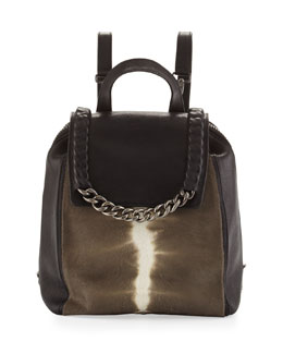 BOYY Bon Bon Chain-Trim Backpack, Mole/Black