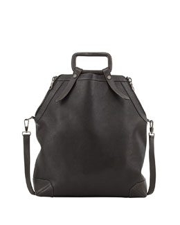 BOYY Claude Side Zip Leather Tote Bag, Black