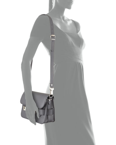 PS11 Mini Calfskin Shoulder Bag, Gray