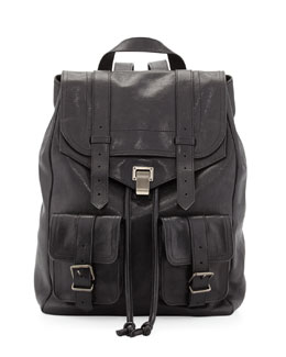 Proenza Schouler PS1 Large Double-Pocket Backpack, Black