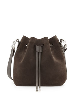 Proenza Schouler Suede Bucket Crossbody Bag, Gray