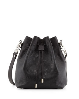 Proenza Schouler Pebbled Bucket Crossbody Bag, Black