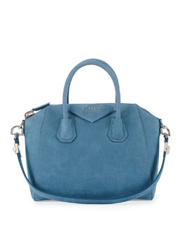 Givenchy Antigona Small Nubuck Satchel Bag, Blue