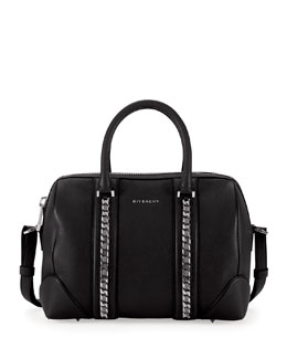 Givenchy Lucrezia Sugar Chain Satchel Bag, Black