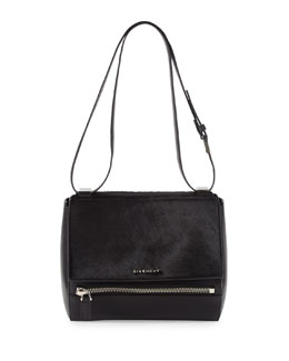 Givenchy Pandora Calf Hair Medium Shoulder Bag, Black