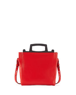 Givenchy Rave Small Leather Crossbody Bag, Red