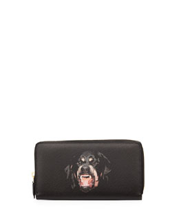 Givenchy Rottweiler Continental Zip Wallet