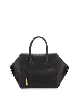 Stella McCartney Beckett Boston Shopper Tote Bag, Black