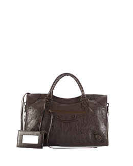 Balenciaga Classic City Bag, Dark Gray