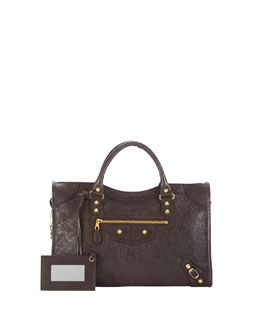 Balenciaga Giant 12 Golden City Bag, Dark Gray