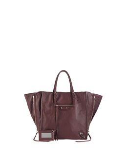 Balenciaga Papier A5 Zip Around Tote Bag, Aubergine