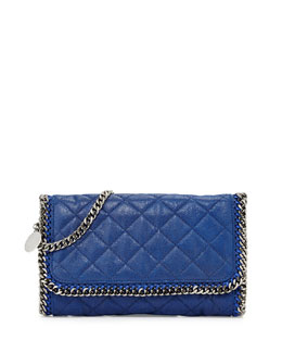 Stella McCartney Falabella Quilted Shoulder Bag, Blue