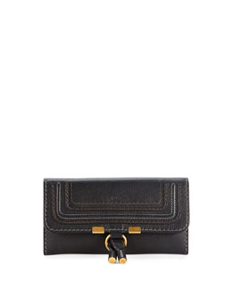 Chloe Marcie Continental Flap Wallet, Black