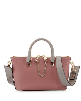 Chloe Baylee Mini Satchel Bag, Pink