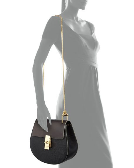 Chloe Drew Medium Chain Shoulder Bag, Black