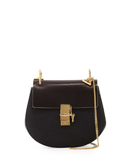 Chloe Drew Medium Chain Shoulder Bag, Black