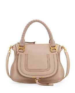 Chloe Marcie Medium Satchel Bag, Beige