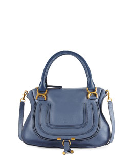 Chloe Marcie Medium Satchel Bag, Medium Blue