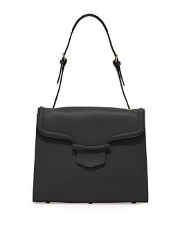 Alexander McQueen Heroine Flap Shoulder Bag, Black