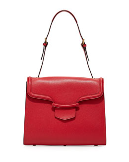 Alexander McQueen Heroine Flap Shoulder Bag, Red