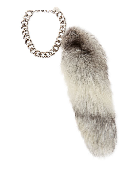 Fur Fox Tail Charm, Gray