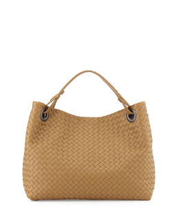 Bottega Veneta Medium Intrecciato Shoulder Bag, Sand