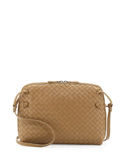 Bottega Veneta Veneta Small Messenger Bag, Sand