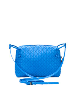 Bottega Veneta Veneta Small Messenger Bag, Cobalt Blue
