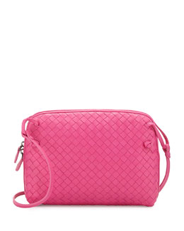 Bottega Veneta Veneta Small Messenger Bag, Hot Pink