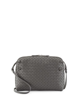 Bottega Veneta Veneta Small Messenger Bag, Gray