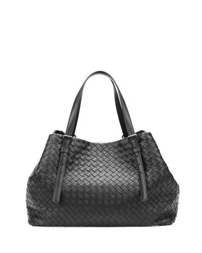 A-Shape  Woven Tote Bag, Black