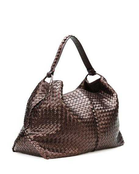 01d061a68b9c3 Bottega Veneta Large Metallic Cervo Shoulder Bag, Brown
