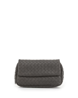 Bottega Veneta Woven Mini Crossbody Bag, Gray