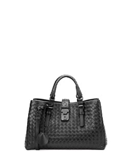 Bottega Veneta Roma Leggero  Tote Bag, Black